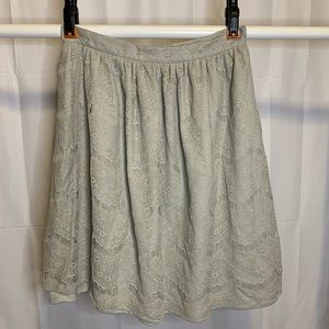 Downeast NWOT Grey Lace Knee-Length Skirt